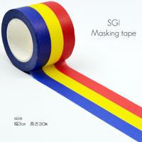 三色マスキングテープ/大/066/幅3cm/長さ30m/創価学会グッズ/SGI・SOKA