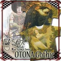 NDW-OG.001 OTONA Gothic project Printed BIG T<怪鳥シリン/Sirin>