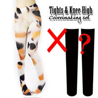 Set sales★<三毛猫/Calico cat>Selectable knee high socks & Tights!