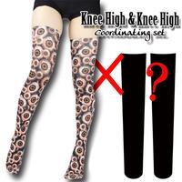 Selectable knee high socks! Set sales<0530充血目玉/0530 hyperemia eyeballs>