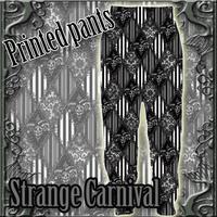 DN-1911.BT-03 Strange Carnival プリントスウェットパンツ<BLK>