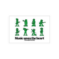 Music saves the heart ステッカー
