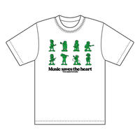 """Music saves the heart""Tシャツ"