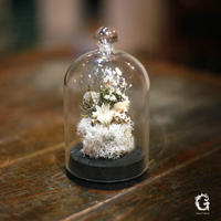 Glass Dome Flower S (gd-04)