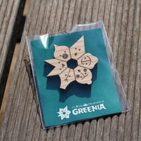 GREENIA 木製ピンバッジ