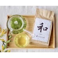 お茶とガラス急須!煎茶「和」200g&ガラス急須セット☆お茶スターターに!