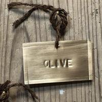 樹木札【真鍮製】ハンドメイド