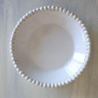 エミールテシエ 白釉 パールリム ソーサー 小皿 直径14.5㎝〖202005-016〗