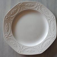 Copeland Spode イギリスアンティーク 白いレリーフ オクトゴナルプレート