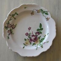 ※ 記録用 18世紀 マルセイユ窯 お花の絵付けプレート #2