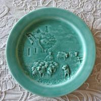バルボティーヌ ドレイフュス ブルー 羊飼いと羊たち パン皿