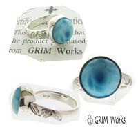 GRIM Works 1点物 ラリマー シンプルリング To 東京