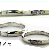 オーダーメード結婚指輪 pt900 DIA