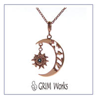 1点もの 月・太陽・桜・海 ネックレス