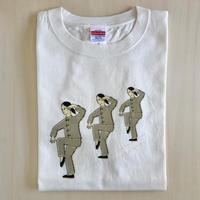 太極拳ガールTシャツ_拗歩倒輦猴_White/Beige