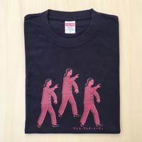 太極拳ガールTシャツ_Dark Navy / Pink