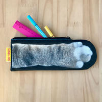 CAT PAW POUCH _fluffy_black_Okinawa