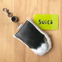 CAT PAW PASS HOLDER _leatherette_Black & White