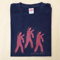 太極拳ガールTシャツ_Navy / Pink