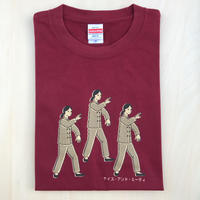 太極拳ガールTシャツ_Burgundy / Beige