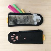 CAT PAW POUCH _fluffy_black_Okinawa