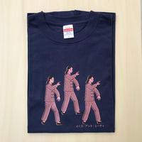 太極拳ガールTシャツ_Navy / Light Pink