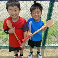 【ウケット・ジュニアーサイズ(1本)】尾脇兄弟モデル-木製テニス練習器具-