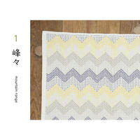 刺し子クロス sashiko cloth 「峰々 mountain range」 [TEMARICIOUS]