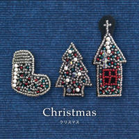 《Christmas》 オトナのビーズ刺繍ブローチ キット[MON PARURE]