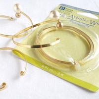 フラットワイヤー3mm(ゴールド)