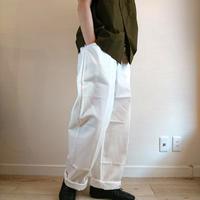 【Czech Army Easy Pants DeadStock】チェコ軍  イージーパンツ DeadStock  ホワイト