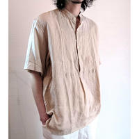 【Le Sans Pareil/ル サン パレイユ】リネンバンドカラーショートスリーブシャツ