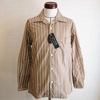 【modem design/モデムデザイン】Stripe Work Shirt  ストライプワークシャツ ベージュ