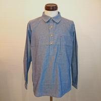 【FUTTEN/フッテン】プルオーバーシャツ ブルー