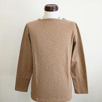【Tieasy AUTHENTIC CLASSIC/ティージーオーセンティッククラシック】ボートネックバスクシャツ ブラウン