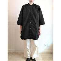 【Swedish Army Hospital Shirts DeadStock Fabric Dyeing Black】スウェーデン軍 ホスピタルシャツ DeadStock 後染めブラック