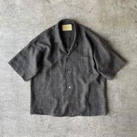 "SEVEN BY SEVEN "" OPEN COLLAR SHIRTS S/S "" Shark skin nep"