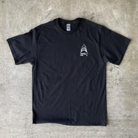 "TROUBLE COFFE CO. "" #SHARK "" 6.1oz Heavy Weight Cotton Tee Black"