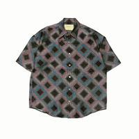 "SEVEN BY SEVEN "" HALF SLEEVE SHIRTS "" Square Pattern Jacquard"