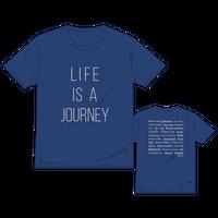 【復刻版】LIFE IS A JOURNEY Tシャツ/ネイビー