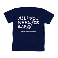 ALL YOU NEED IS RAP Tシャツ /ネイビー