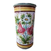 イタリア製花柄アンティーク陶器
