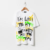 Hand Painted T-sh / White / No.46