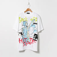 Hand Painted T-sh / White / No.118