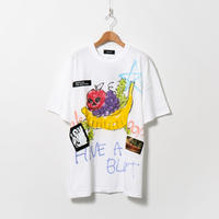 Hand Painted T-sh / White / No.125