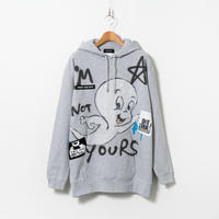 Hand Painted Over Hoody / Gray / No.42