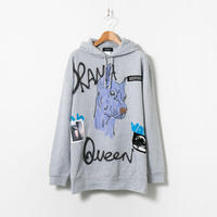 Hand Painted Over Hoody / Gray / No.57