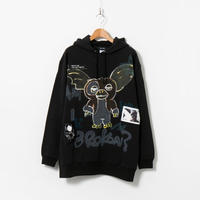 Hand Painted Over Hoody / Black / No.44