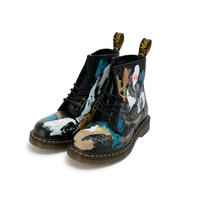 Hand Painted Leather Boots / UK:8 / No.2