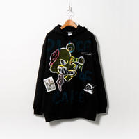 Hand Painted Over Hoody / Black / No.96